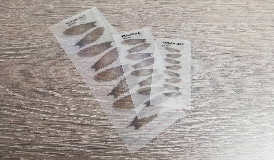 "Transparent ""Light Butterfly"" fin stickers."